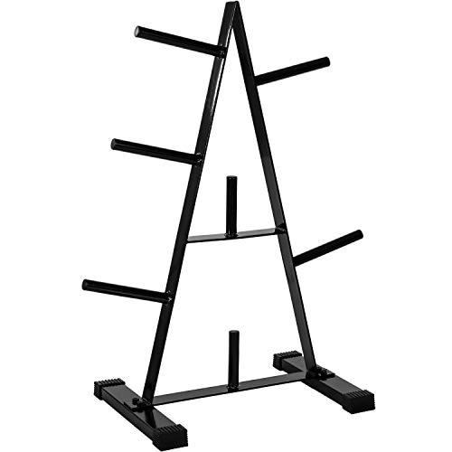 Movit® Hantelscheibenständer Hantelbaum, Scheibenaufnahme: 30mm Farbwahl: schwarz oder weiß, bis 250 kg...