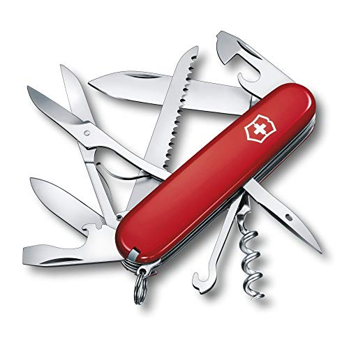 Victorinox Taschenmesser Huntsman (15 Funktionen, Schere, Holzsäge, Schraubendreher, Klinge, Korkenzieher) 91...
