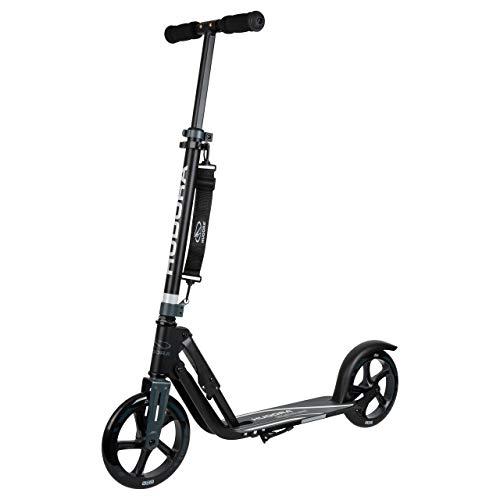 HUDORA 14825 Big Wheel 205-City-Roller-Klappbarer Tretroller Scooter Roller, schwarz/anthrazit, 205 mm