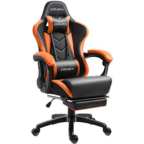 Dowinx Gaming Stuhl Ergonomischer Racing Stil Lehnstuhl mit Massage Lordosenstütze, Büro Sessel für...