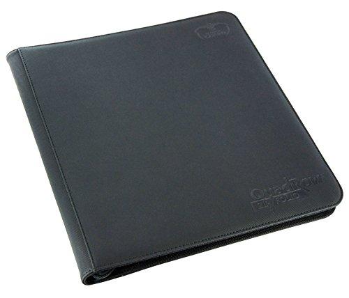 Ultimate Guard UGD010342 - 12-Pocket Quad Row Zip Folio Xeno Skin, schwarz