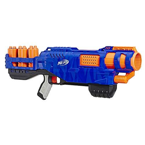 Trilogy DS-15 Nerf N-Strike Elite Spielzeug Blaster mit 15 Nerf Elite Darts und 5 Hülsen – Für Kinder,...