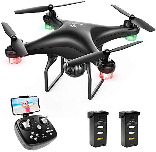 SNAPTAIN SP600 Drohne mit Kamera 720P HD, 30 Minuten Flugzeit, Live Übertragung WiFi FPV RC Quadcopter,120°...