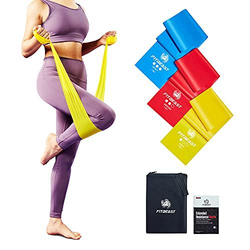 FitBeast Fitnessbänder, Resistance Bands 3-Set, Gymnastikband mit 3 Widerstandsstufen für Training zu Hause,...