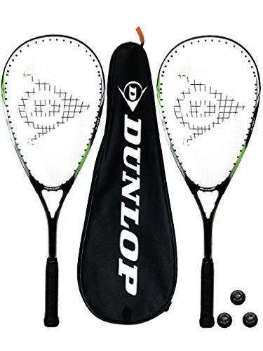 Dunlop Biotec X-Lite Squashschläger x 2 + Schlägerhülle (2) + 3 Squash-Bälle (Verschiedene Optionen)...