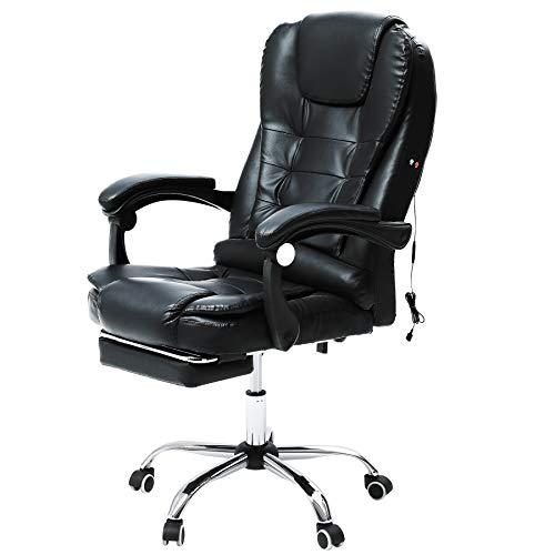 VONLUCE Massage Chefsessel Bürostuhl BürosesselSchreibtischstuhl Drehstuhl Gaming Stuhl Massage Sessel mit...