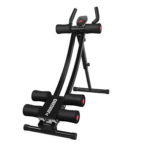 ONETWOFIT Bauchtrainer | Bauchmuskeltrainer klappbar für Zuhause | gezieltes Bauchmuskeltraining mit...
