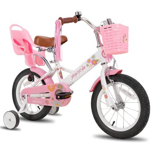 JOYSTAR Little Daisy 14 Zoll Kinderfahrrad für 3 4 5 Jahre Mädchen mit Handbremse Kinder...