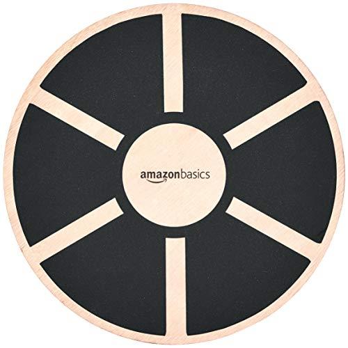 Amazon Basics Balancebrett aus Holz, Schwarz