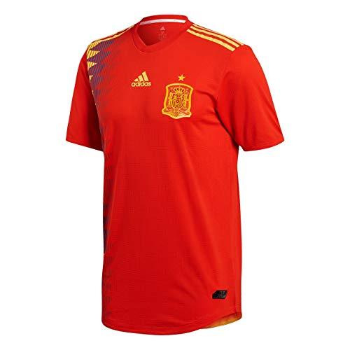 adidas Herren Spanien Authentic Heimtrikot, Red/Bold Gold, L