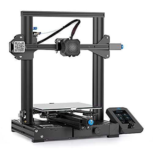 3D Drucker Creality Ender 3 V2 mit 32 Bit Silent Board, Meanwell-Netzteil, Carborundum Glasplattform und...