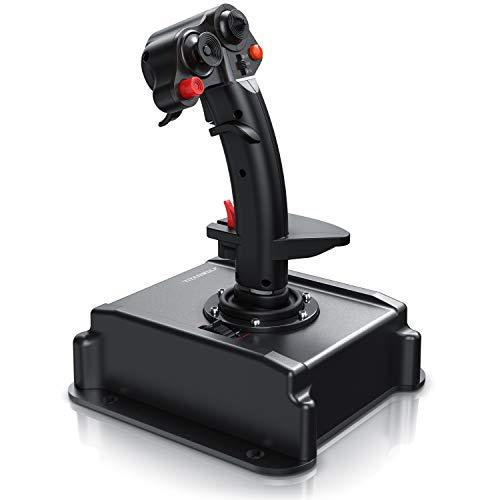 Titanwolf - PC Joystick - Flight Stick – Vierweg Joystick – HOTAS Funktion - stufenloser Schubregler –...