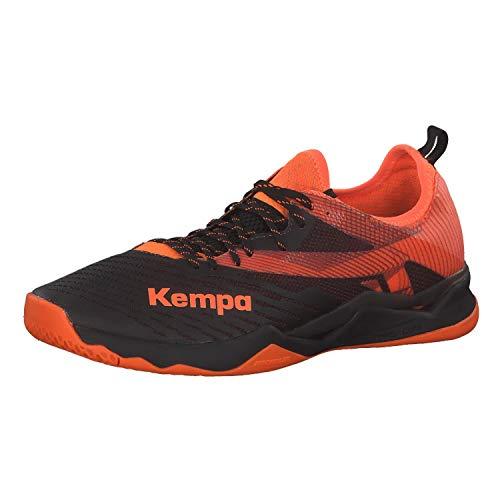 Kempa WING LITE 2.0, Herren Handballschuhe, Mehrfarbig (Schwarz/Fluo Orange 02), 42½ EU (8.5 UK)
