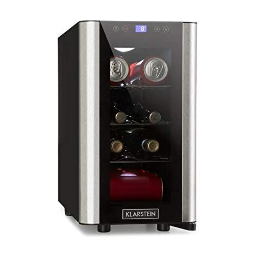 Klarstein Vinovista Picollo - Weinkühlschrank, Getränkekühlschrank, 24 Liter, 8 Flaschen, 3...