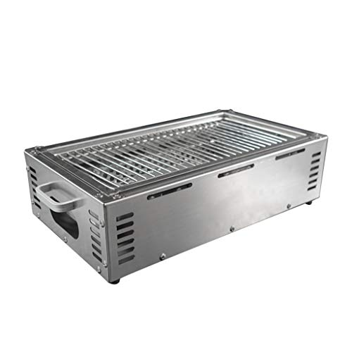 FEANG Tragbare Holzkohle-Grill aus Edelstahl, faltbar BBQ-Grill-Camping-Grill großer Reisegrill für den...