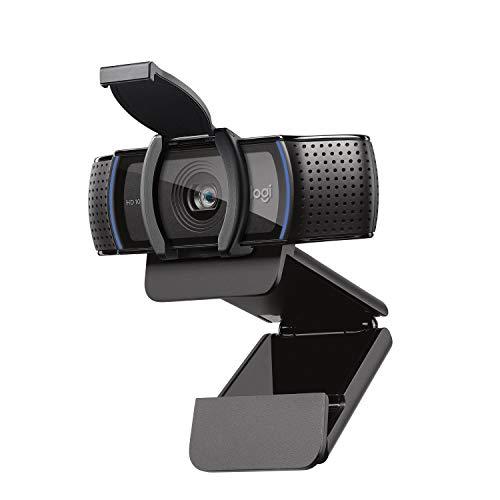 Logitech C920s HD PRO Webcam, Full-HD 1080p, 78° Blickfeld, Autofokus, Belichtungskorrektur, USB-Anschluss,...