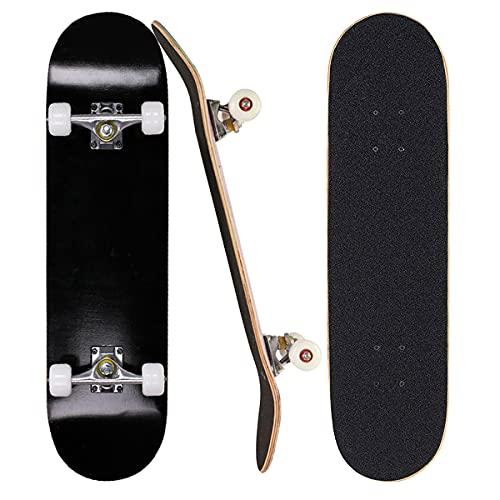 Sumeber Skateboard für Anfänger 31 x 8 Zoll Komplettboard mit ABEC-7 Kugellager Double Kick Skateboards...