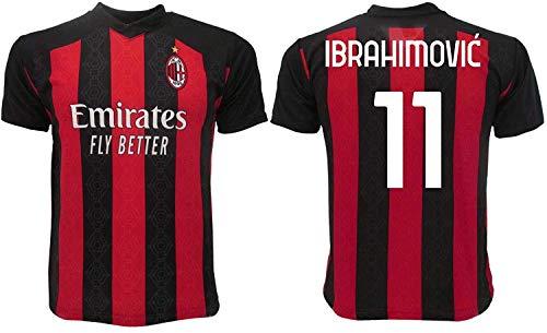 Ibrahimovic Mailand Offizielles Trikot 2019 2020 AC Erwachsene Kinder Zlatan Ibra Home 21, Rossonera, 4 anni