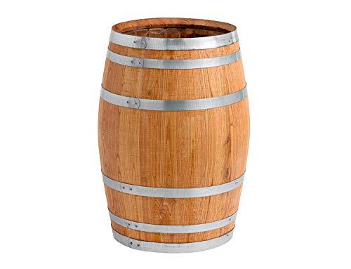 150 Liter Holzfass, neues Fass, Weinfass aus Kastanienholz geöffnet als Regenfass, Regentonne (Fass geölt...