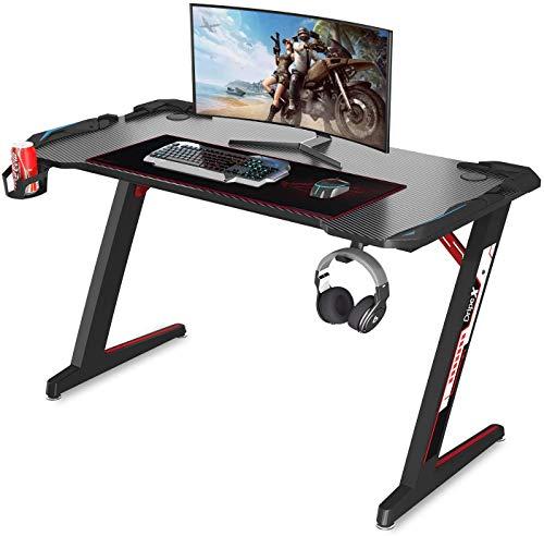Dripex Gaming Tisch 113 cm Gaming Schreibtisch Gaming Computertisch PC Schreibtisch Gamer mit Getränkehalter...