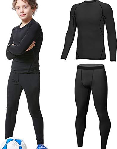 HOPLYNN - Thermounterwäsche Set für Kinder Funktionsunterwäsche Skiunterwäsche Jungen Atmungsaktiv Thermo...