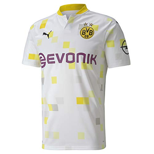 PUMA Herren BVB Third Shirt Replica SS w/Evonik w/o Opel T White, L