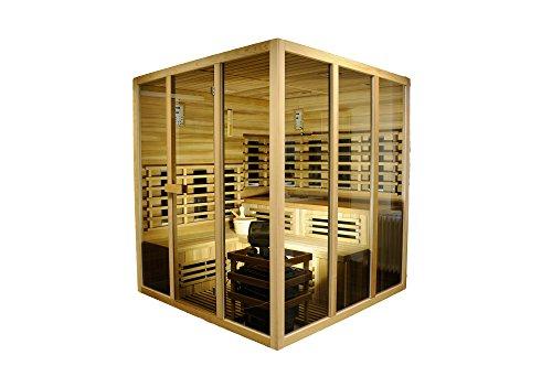 Sauna und Infrarotkabine'Sidney', rotes Zedernholz, Wärmekabine, Sauna, Infrarotsauna, Infrarotwärmekabine