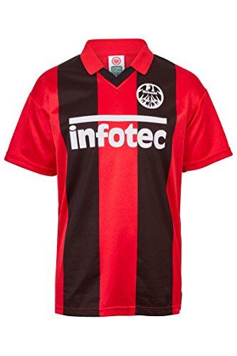 ScoreDraw Herren Retro - Trikot Eintracht Frankfurt | Heimtrikot 1981 in Rot-Schwarz, Größe: M