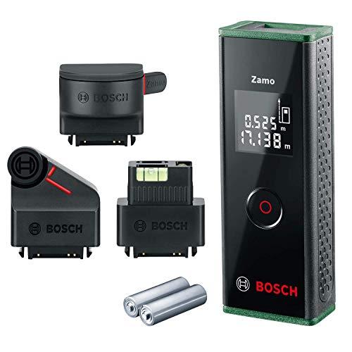 Bosch Laser-Entfernungsmesser Zamo Set (3. Generation, Messbereich: 0,15 – 20,00 m, Karton)