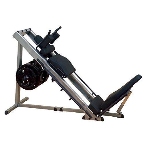 Body-Solid GLPH-1100 Beinpresse 45° / Hackenschmidt mit Gewichten, 30mm (100kg/120kg) (100kg Hantelscheiben...