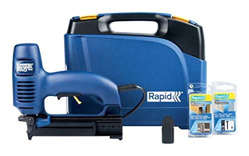 Rapid Elektrotacker R606 für Holz - Bilderrahmen, Holzpaneelen, Leistungsstark, für Klammern Typ 606,...