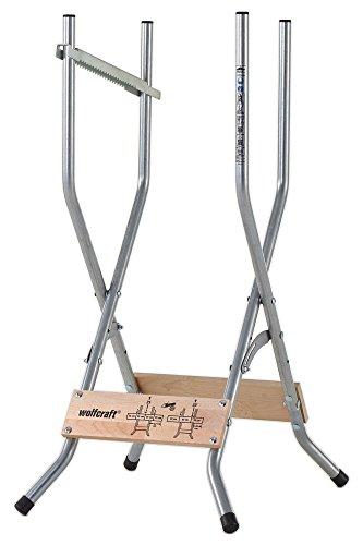 Wolfcraft 5119000 Sägebock - zusammenklappbar / Mobile & kompakte Sägehilfe für zuhause und unterwegs -...
