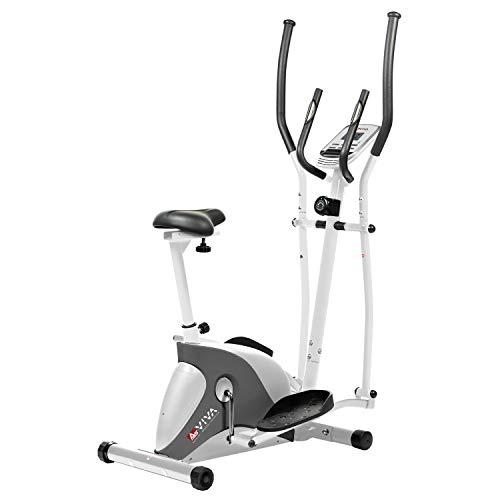 AsVIVA 2in1 Cardio Elliptical Crosstrainer, Heimtrainer (12kg Schwungmasse), Bluetooth Computer (App Nutzung),...