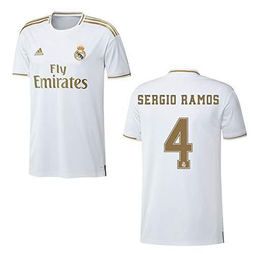 adidas REAL Madrid Trikot Home Herren 2020 - Sergio Ramos 4, Größe:XL