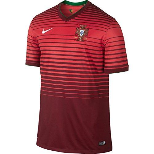 Nike JSY Portugal SS Home Stadium Fußball Trikot S rot
