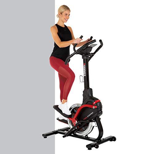 HAMMER Cross Stepper, Mix aus Crosstrainer- und Stepper-Workout, Tablet- und Smartphonehalterung,...
