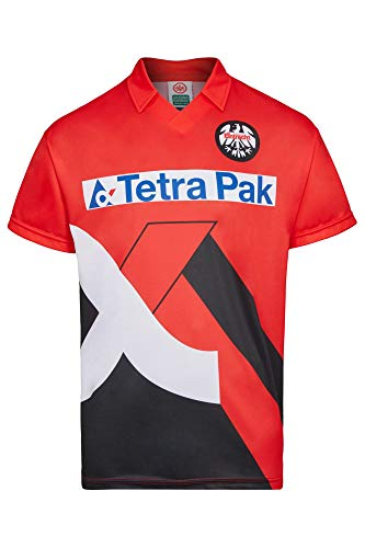 Score Draw Herren Retro - Trikot Eintracht Frankfurt | Heimtrikot 1995 Rot-Schwarz, Größe: L