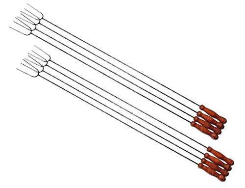 8 lange Grillspieße, sehr lang 1 Meter Wurstspieße, für Garten Grill, Würstlhalter Wursthalter für...