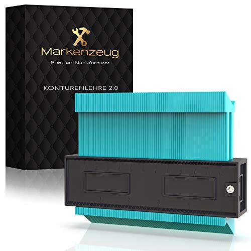MARKENZEUG® Premium Konturenlehre - Verbessertes Konzept 2021 I Konturmessgerät I Konturlehre Duplikator I...