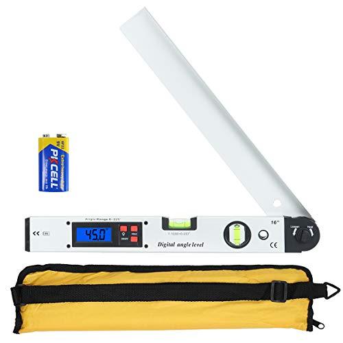 Winkelmesser, Orthland Wasserwaage mit LCD Display 0-225 °, 400 mm/16 Zoll Winkelmesswerkzeug für vertikale...