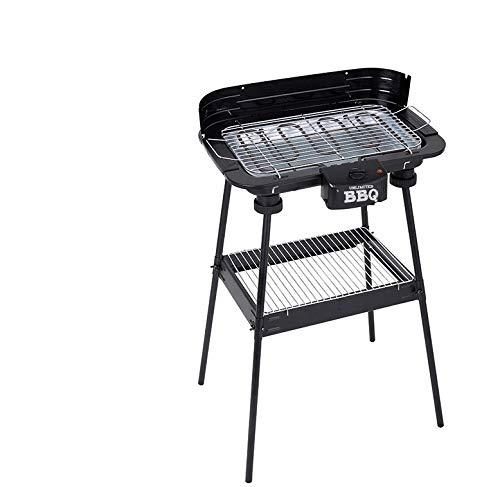 Posten Anker Premium Standgrill XXL I Elektrischer Grill I Grillfläche 38 cm x 22 cm I 2200 Watt Power I...