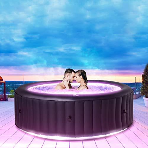 Miweba MSpa aufblasbarer Whirlpool Aurora U-AU06 Outdoor für 6 Personen - inkl. LED RGB - inkl. Ozon &...
