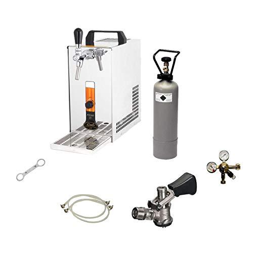 Bierkühler mobile Bierzapfanlage 25 Liter/h KOMPLETTSET - KEG Kombi - CO2 2 kg