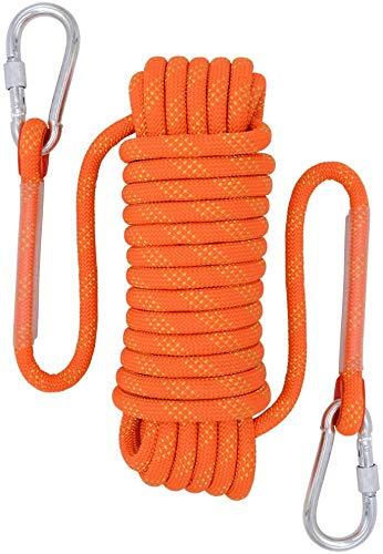 AIRUI Outdoor-Kletterseil, Durchmesser 10mm Kletterseil im Freien, Sicherheitsseil Geflecht Nylon Seil, Länge...