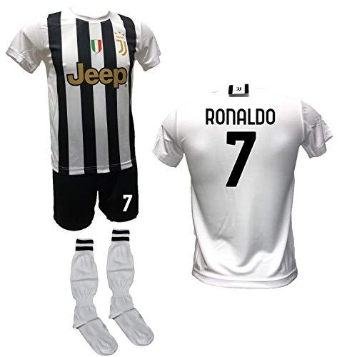DND Di D'Andolfo Ciro Fußballtrikot Home Cristiano Ronaldo CR7, Shorts mit Aufdruck Nummer 7 und...