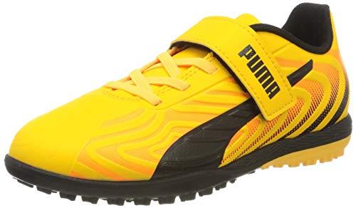 Puma Unisex-Kinder One 20.4 Tt V Jr Botas de fútbol, Gelb (Ultra Yellow Black-Orange Alert), 31 EU