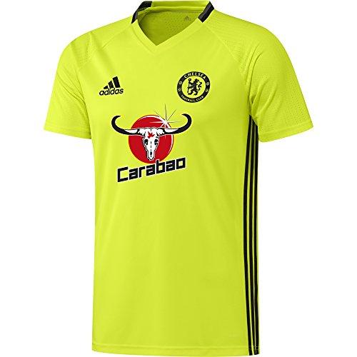 adidas Herren FC Chelsea Trikot, Solar Yellow/Black/Granite, L