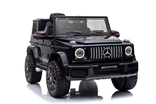 RIRICAR Elektrisches Auto für Kinder, Mercedes G Neu, Schwarz, mit 2,4 GHz Fernbedienung, 1 Sitzer, Batterie...
