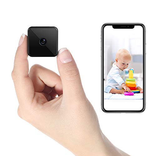 Mini Kamera WLAN, HD WiFi Überwachungskamera Kompakte Kleine Sicherheitskamera - Lange Standby-Zeit von 7...