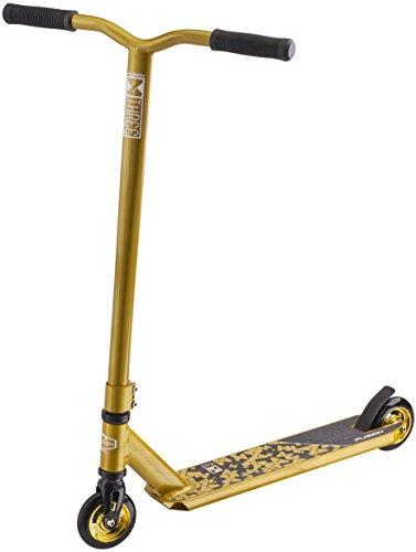Fuzion X-3 Stunt Scooter -Stunt Roller - Trick Roller Für Kinder (Gold)